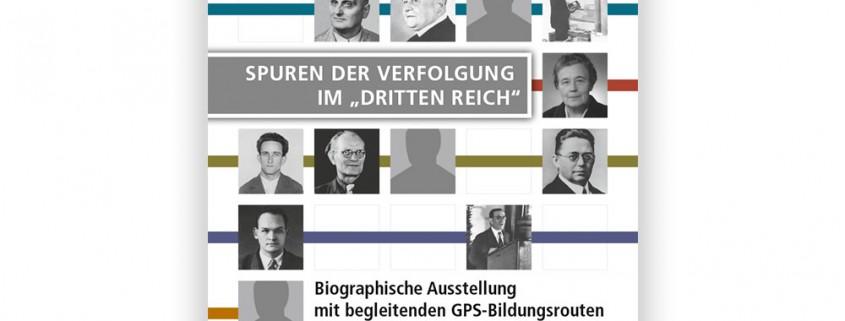 Plakat: Ausstellung »Spuren der Verfolgung im ›Dritten Reich‹« – Werbeplakat