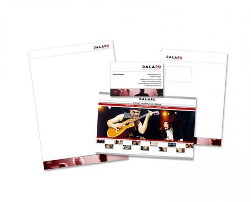 Geschäftsausstattung: DACAPO – Kultur Offensiv – Logo, Briefbogen, Visitenkarte, Website etc.