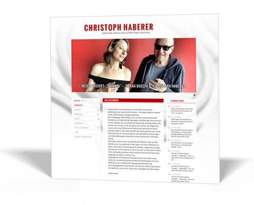 Website: Christoph Haberer – Composition, Acoustic and Electronic Drums, Percussion, Synthesizers, Programming