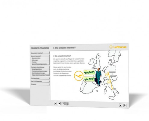 Intranet-Site: Lufthansa – Prorate-Training