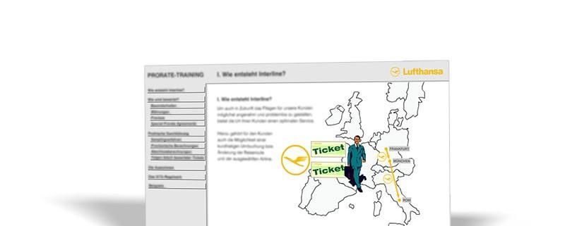 Intranet-Site:Lufthansa –Prorate-Training