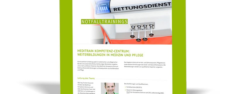 WEBSITE: MediTrain Kompetenz-Centrum Torsten Krause