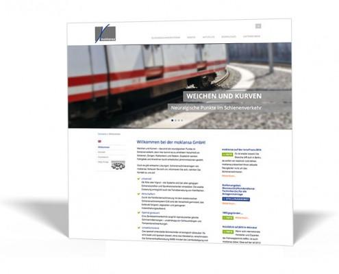 Website: moklansa – Schienenschmieranlagen