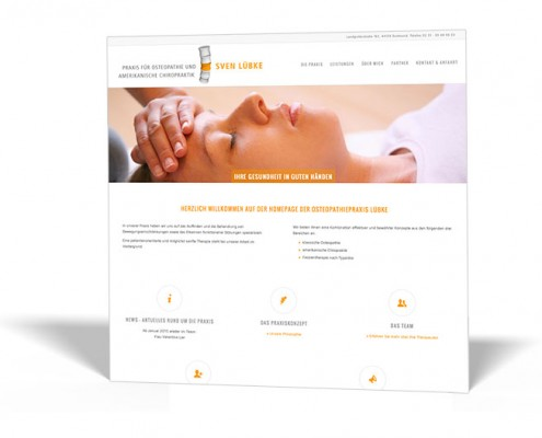Website: Osteopathie Lübke