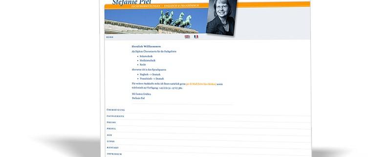 Website:Stefanie Piel Fachübersetzungen